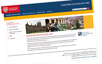Motus Mentis - Links - The University of Sydney:Coaching Psychology Unit